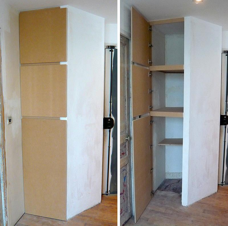 placard dressing medium sur mesure agencement archives aspect meuble. Black Bedroom Furniture Sets. Home Design Ideas